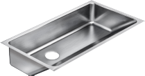 Integra Drain Single Bowl Stainless Steel Sinks - Just Manufacturing