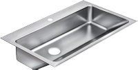Commercial Stainless Steel Single Bowl Sinks - Just Manufacturing