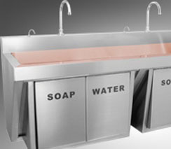 Infection Control Antimicrobial Copper Scrub Sink