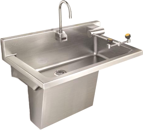 Handwash Sink with Swing Down Eyewash