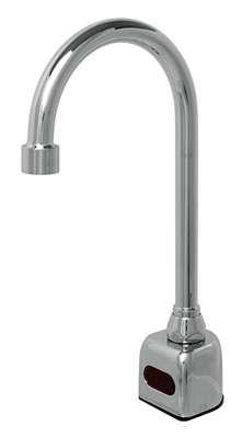 Single-hole deck mount non-mixing automatic gooseneck faucet