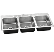 Triple Bowl Stainless Steel Sinks - Just Manufacturing