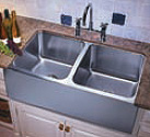 Double Apron Front Sink Stainless Steel for Contemporary Kitchen Design