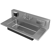 Academic Wall-Mount Stainless Steel Sinks - Just Manufacturing
