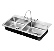 Food Service Double Bowl Stainless Steel Sinks - Just Manufacturing