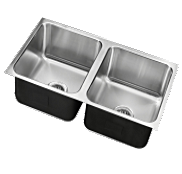 Assisted Living Double Bowl Stainless Steel Sinks - Just Manufacturing