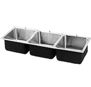 Food Service Stainless Steel Triple Bowl Sinks - Just Manufacturing