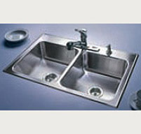 Double Bowl Stainless Steel Sink - Just Manufacturing