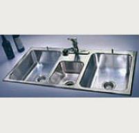 3 compartment triple compartment stainless steel kitchen sinks - Three Compartment Kitchen Sink