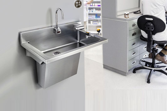 Handwash Sink with Eyewash