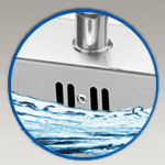 Integra Flow System for Commercial Stainless Steel Sinks