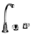 JOL-400 Two-handle commercial faucet with high-rise arc