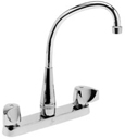 JTR-50 Two-handle commercial faucet with high-rise arc