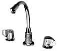 JWF-200 Two-handle commercial faucet with high-rise arc