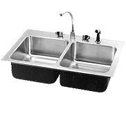 Deep / Extra Deep Double Compartment Sink Stainless Steel