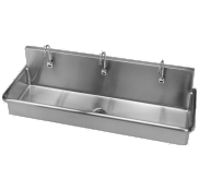 commercial wallmount stainless steel sinks just