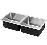 Assisted Living Stainless Steel Sinks Double Bowl - Just Manufacturing