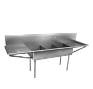 Single Compartment Double Drainboards