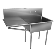 Commercial Scullery NSF Std 2 Sinks