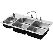 Food Service Triple Bowl Stainless Steel Sinks - Just Manufacturing