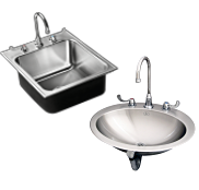 Stainless Steel Single Compartment Kitchen Sinks and Lavatories