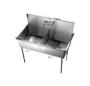 Stainless Steel Food Service NSF Std 2 Sinks - Just Manufacturing