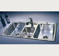 Triple Compartment Stainless Steel Fixture - Just Manufacturing