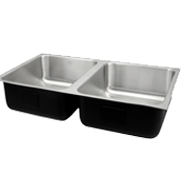 Assisted Living Double Bowl Sinks- Just Manufacturing