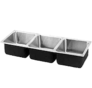 Academic Triple Bowl Stainless Steel Sinks- Just Manufacturing