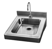 Stainless Steel Food Service Wall Hung Lavatory Sink - Just Manufacturing